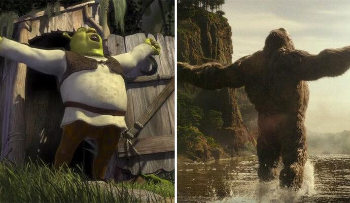 Kong mirip banget dengan Shrek