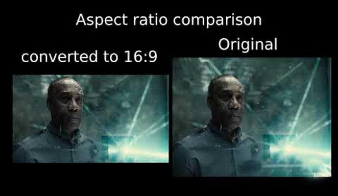 Perbedaan rasio dan warna