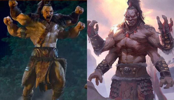 Goro dalam film dan dalam game