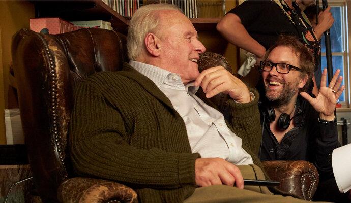 Anthony Hopkins dan sang sutradara The Father Florian Zeller
