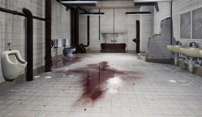 Ada adegan kamar mandi yang klasik di film Saw